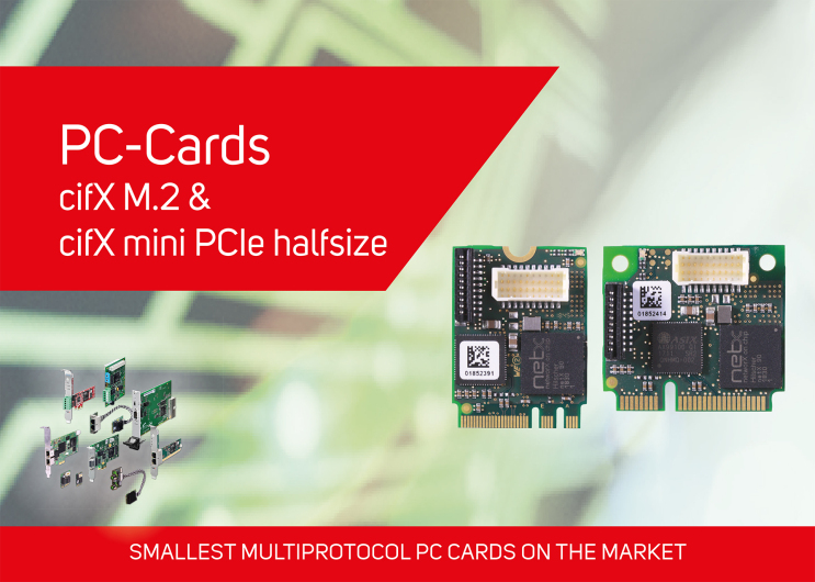Multiprotocol PC cards for compact systems such as box IPCs or vision systems