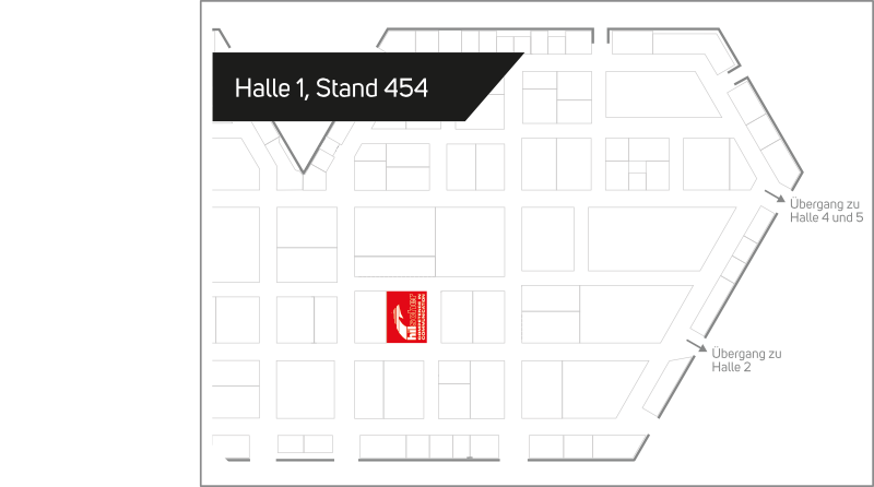 Find us in Hall 1, Stand 454